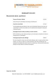 volledige wijnkaart met beschrijving van de wijnen - Rederij de ...