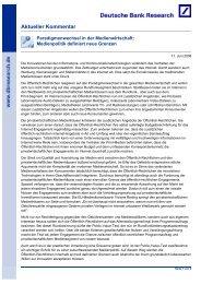 Medienpolitik definiert neue Grenzen - Deutsche Bank Research