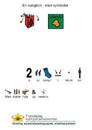 En sangbok med PCS-symboler.