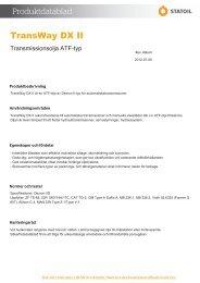 TransWay DX II - Statoil Fuel & Retail