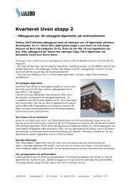 Kvarteret Uven etapp 2 - Lulebo.se