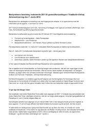 Bestyrelsens beretning vedrørende 2011 til generalforsamlingen i ...