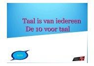 De 10 voor taal - Provincie Limburg