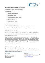 Protokoll – Borner Runde – 27.03.2012 - Osdorfer Born