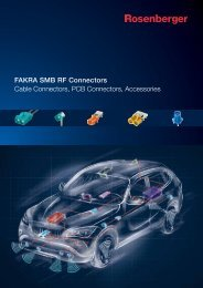 FAKRA SMB RF Connectors Cable Connectors, PCB ... - Walcom