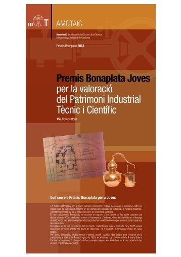 Bonaplata Joves.2013 - Enginyers Industrials de Catalunya