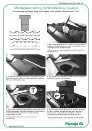 Ventilationshuv för Plannja profiler/takpannor Montageanv