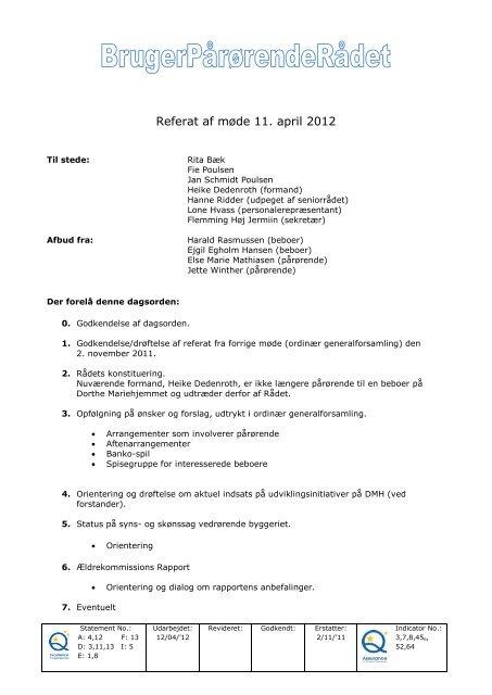 BPR April 2012 - Mariehjemmene