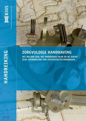 Handreiking Zorgvuldige Handhaving - BIOS