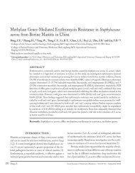 Methylase Genes-Mediated Erythromycin Resistance in ...