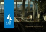 Corporate Functions Guide 2013 - Salt on the Beach