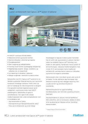 KCJ Capture Jet™ ventilated ceiling with integrated laminar ... - Halton