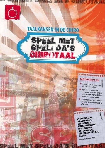 SPeEL MET SPEL - Chiro