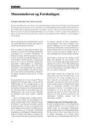 Museumsloven og Forskningen