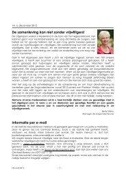 Nieuwsbrief Vrijwillige Thuishulp, december 2012