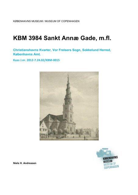 Udgravningsrapport Sankt Annæ Gade m.fl. (KBM3984)