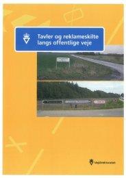 Regulativ for Tavler og reklameskilte langs offentlige veje.