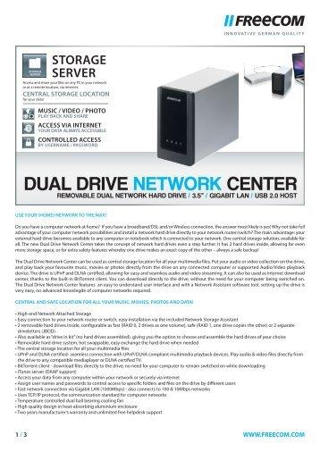 DUAL DRIVE NETWORK CENTER - Icecat