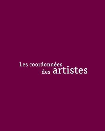 Télécharger la liste et les coordonnées des artistes ... - Lelivredart