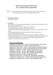 Referat bestyrelsesmøde i DKK Kreds 6, den 7. november 2012 hos ...