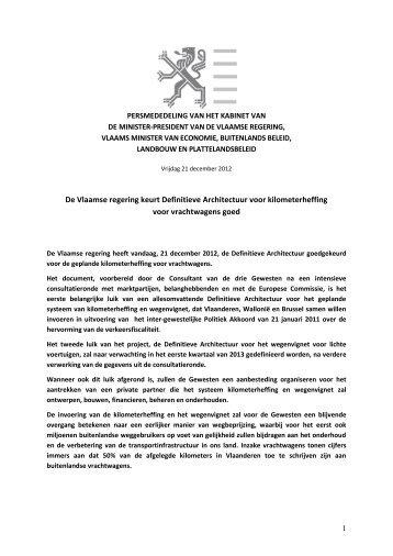 De Vlaamse regering keurt Definitieve Architectuur ... - Kris Peeters