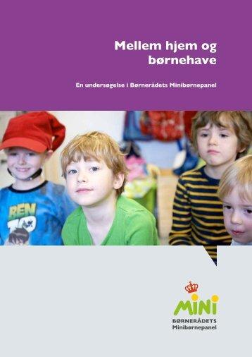 Mellem hjem og børnehave - Børnerådet