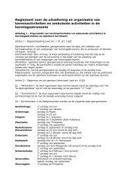 Reglement foren en kermissen 2011 - Stad Geraardsbergen