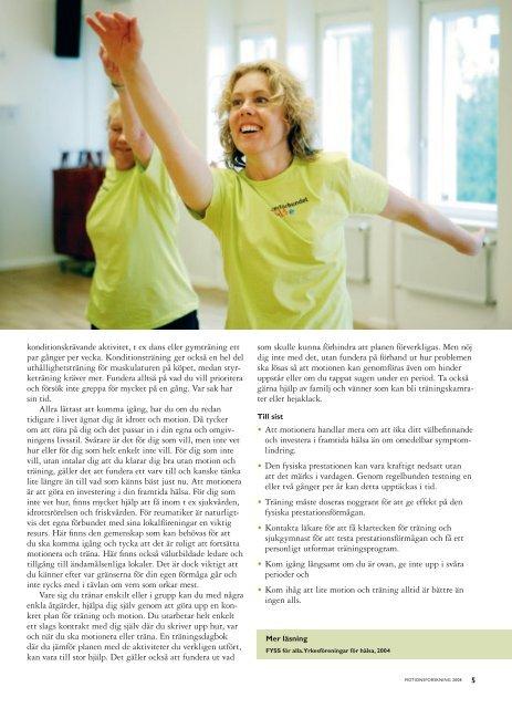 Fysisk aktivitet vid reumatisk sjukdom - NetdoktorPro