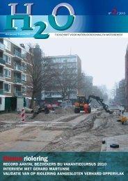 thema riolering - H2O - Tijdschrift voor watervoorziening en ...