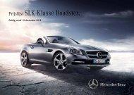 Prijslijst SLK-Klasse Roadster. - Ghistelinck