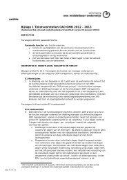 Tekstvoorstellen CAO OMO definitief nav akkoord 24-01-2013