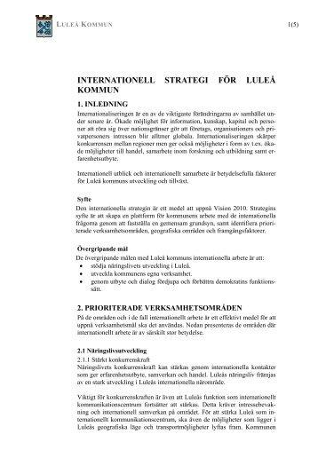 Internationellt program - Luleå kommun