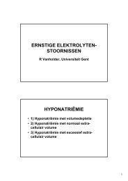 Ernstige Electrolytenstoornissen - Brevet Acute Geneeskunde