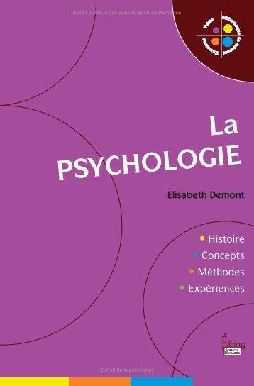 La psychologie - Decitre