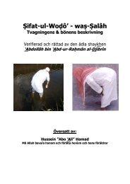 Tvagningens & bönens beskrivning - Ṣifat-ul-Woḍô' - waṣ-Ṣalâh