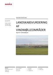 landskabsvurdering af vindmølleområder - Favrskov Kommune