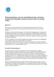 Rekommendationer avseende anti-inflammatorisk och immun ...