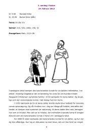 2. søndag i fasten 24. februar 2013 1 Kl. 9.00 Ravsted ... - Burkal Kirke