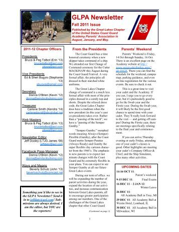 GLPA Newsletter - USCG Academy Alumni Association