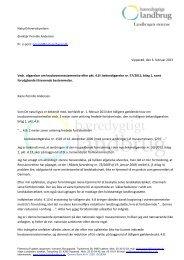 Klik her for at se skrivelsen Bæredygtigt Landbrug har sendt til ...