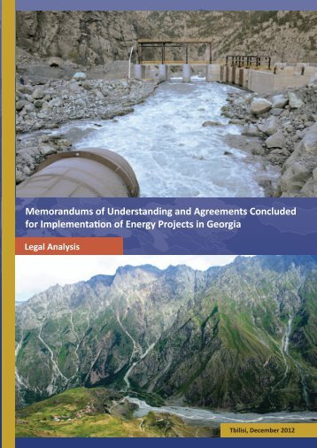 Memorandums of Understanding and Agreements Concluded for ...