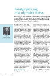 Paralympics väg mot olympisk status (2012) - GIH