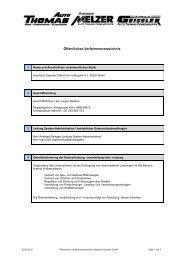 Öffentliches Verfahrensverzeichnis - bei Auto Thomas