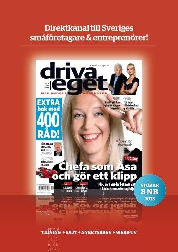 Ladda här ned pdf med annonsinfo för 2013 - Driva Eget