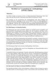 Merkblatt Versammlung der Anleihegläubiger