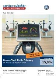 Fitness-Check für Ihr Fahrzeug - bei Auto Thomas