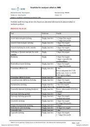 Svartider for analyser utført av AMS Side 1 av6 Svartiden anslår hvor ...
