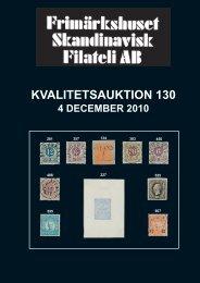 Auktion 130 dec 2010 - Frimärkshuset Skandinavisk Filateli AB