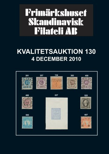 Auktion 130 dec 2010 - Frimärkshuset Skandinavisk Filateli AB