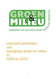 Overzicht activiteiten wg groen 2009 2010 - WCOB